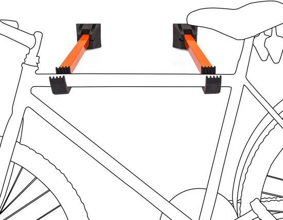 relaxdays ophangsysteem fiets fietsdrager muur wandhouder inklapbaar