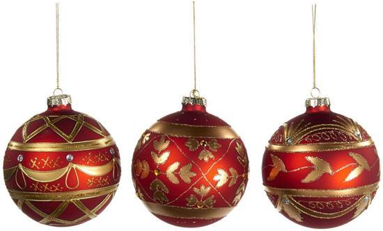 Bol Com Goodwill Kerstbal Assortiment Van 3 Stuks Glas Rood