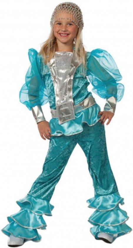 Blauw Mama Mia kostuum voor meisjes 128