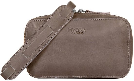 MYOMY My Boxy Bag Camera Dames Clutch - hunter taupe