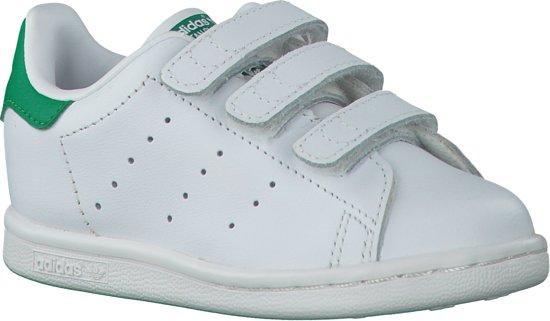 396250de5f5 bol.com | Adidas Jongens Sneakers Stan Smith Cf C - Wit - Maat 28