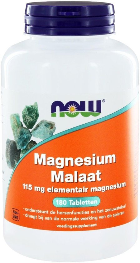 NOW Magnesium Malaat 115 mg - 180 Tabletten