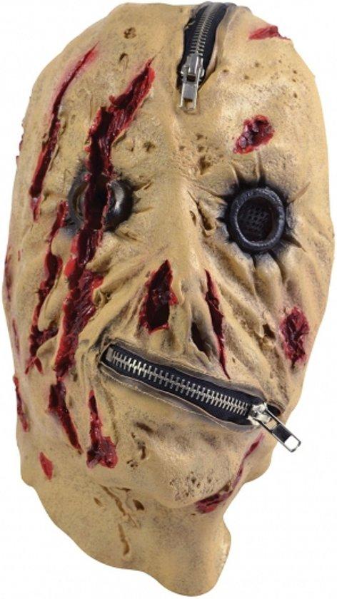 Halloween Horror masker met rits