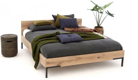 Massief Houten Bed 160x200.Gussta Massief Eiken Houten Bed Timber 160 X 200 Cm Massief Hout