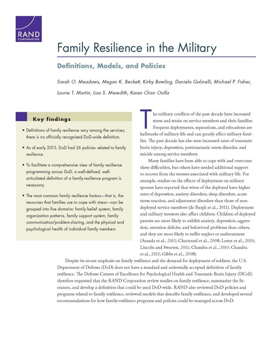 the effects that deployment has on The effects on the family during military deployment families are important 2012 the effects that deployment has on families whether good or bad.
