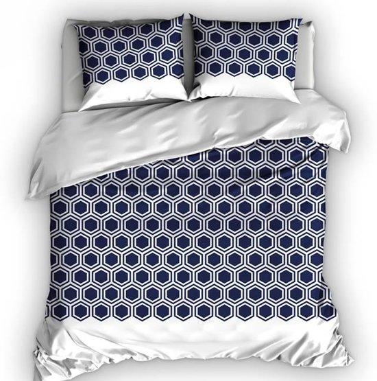 Romanette Penta - Dekbedovertrek - Lits-jumeaux - 270x200/220 cm + 2 kussenslopen 60x70 cm - Blauw