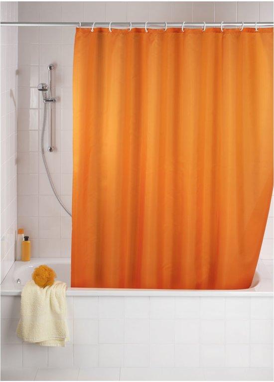 Uni - Douchegordijn - Polyester - Anti Schimmel - 180x200 cm - Oranje