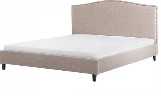 bol beliani montpellier bed stof beige 140x200