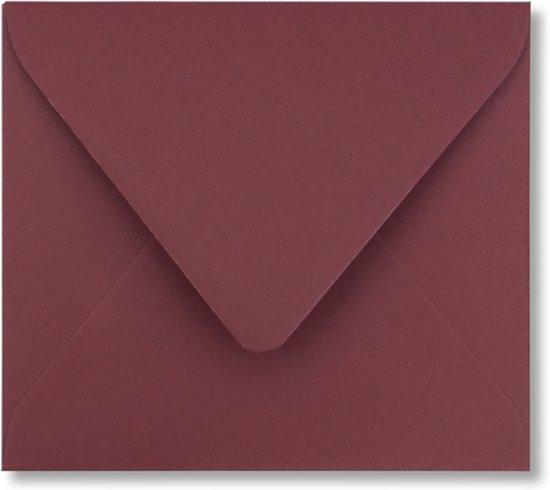 Envelop 12,5 x 14 Donkerrood, 60 stuks