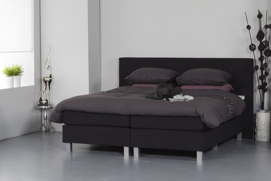 bol.com | Vlakke boxspring Dream - 160 x 200 cm - Zwart
