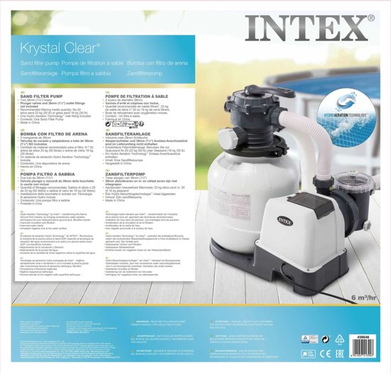 Intex Krystal Clear zandfilterpomp 26646GS