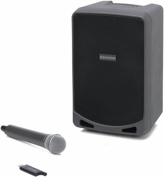 Samson SAXP106W - Draagbare luidspeaker met draadloze microfoon - Zwart