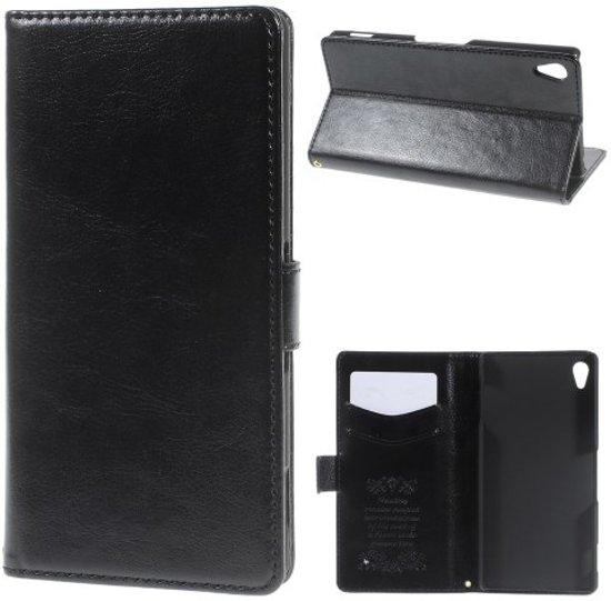 Kds PU Leather wallet hoesje HTC Desire 816 zwart