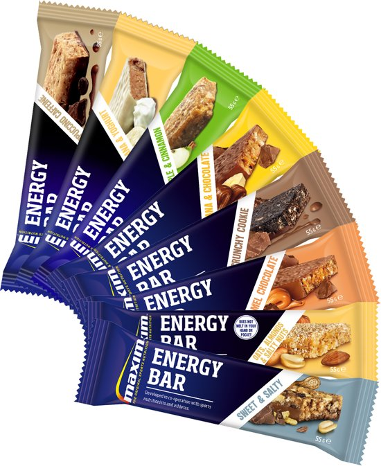 Maxim Energy Bar 55g Variatiepakket (15 repen)