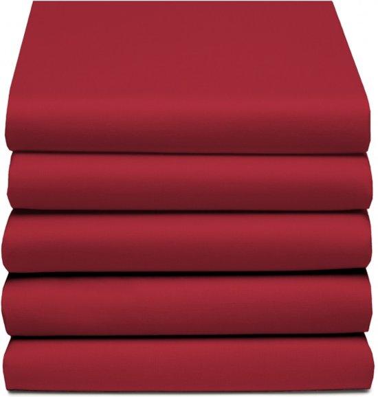 D'Orveige Hoeslaken Dubbel Jersey - Tweepersoons - 140x200 cm - Roze