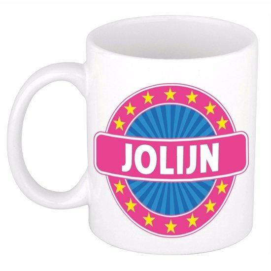 Jolijn naam koffie mok / beker 300 ml  - namen mokken