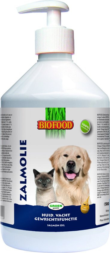 Biofood Zalmolie + Doseerpomp - 500 ml