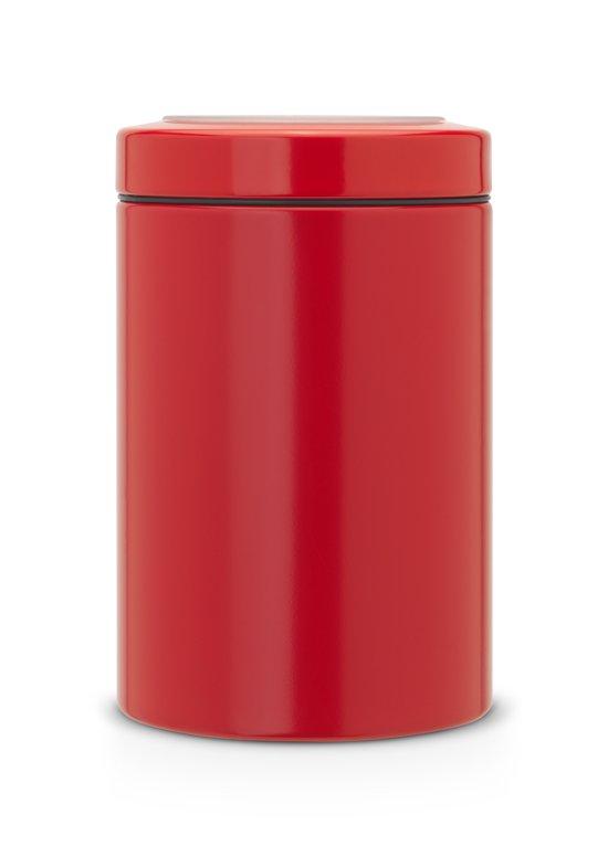 Brabantia Voorraadbus met Vensterdeksel - 1,4 l - Passion Red