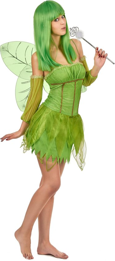 Fee Kostuum Dames.Groene Fee Kostuum Voor Vrouwen Verkleedkleding Xl