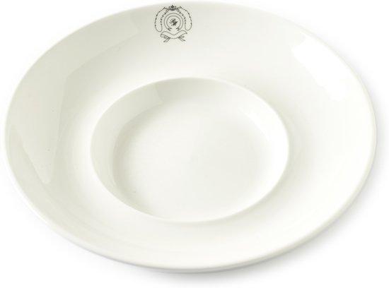 Rivièra Maison Classic Italian Pasta Plate L - Pastabord - Ø 26 cm - Wit
