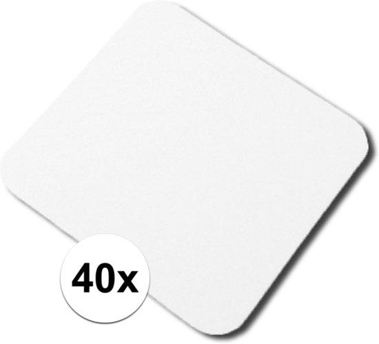 40x Onbedrukte bierviltjes vierkant