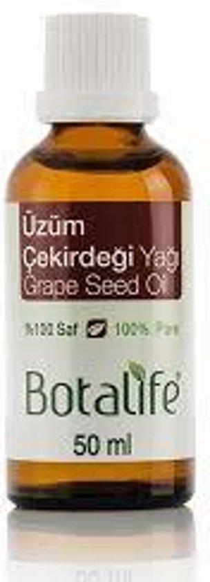 Foto van Botalife - Druivenpit olie 50 ml - 100% natuurlijk & koud geperst