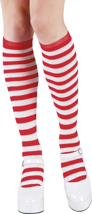 Dorus kousen rood / wit