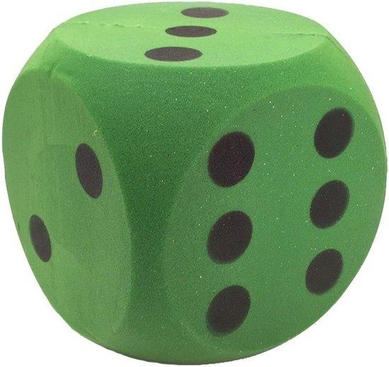 Grote foam dobbelsteen groen 16 x 16 cm