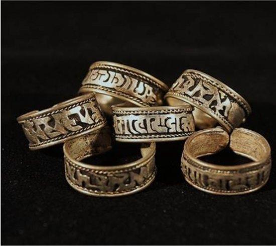 Ring Tibet Witmetaal