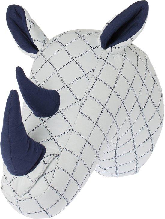 Riverdale - Dierenkop Rhino - 40cm - wit