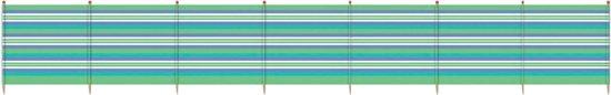 Yello Windscherm 8 Palen 120 X 462 Cm Groen/blauw
