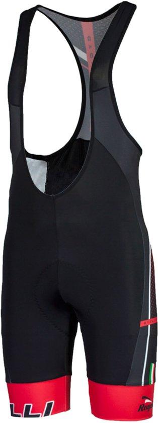 Rogelli Gara Mostro  Fietsbroek - Maat XL  - Mannen - zwart/rood