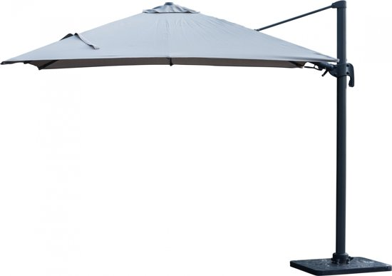 bol.| Parasol Boston de Luxe   3x3   Vierkant   Taupe