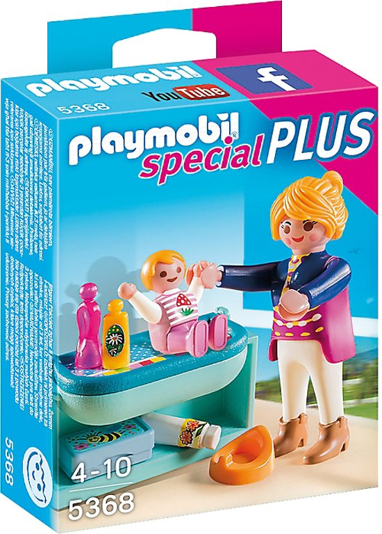 playmobil mama met luiertafel 5368 playmobil. Black Bedroom Furniture Sets. Home Design Ideas