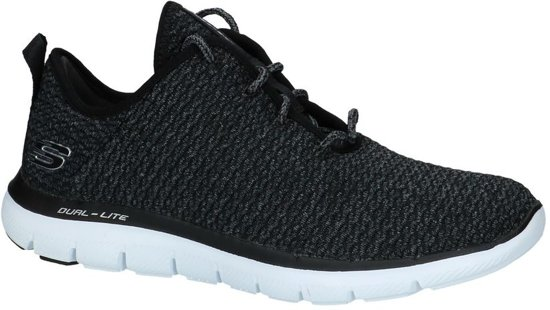 Skechers Dames FLEX APPEAL 2.0 BOLD MOVE 12773 Maat 39 BlackWhite Maat 39
