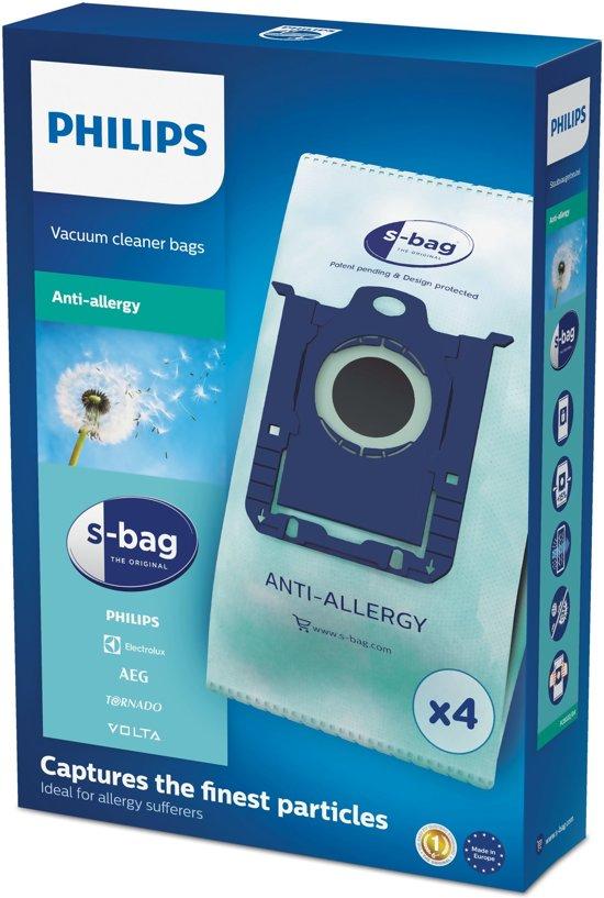 Philips S-Bag FC8022/04 - Stofzuigerzak Anti-allergie - 4 stuks