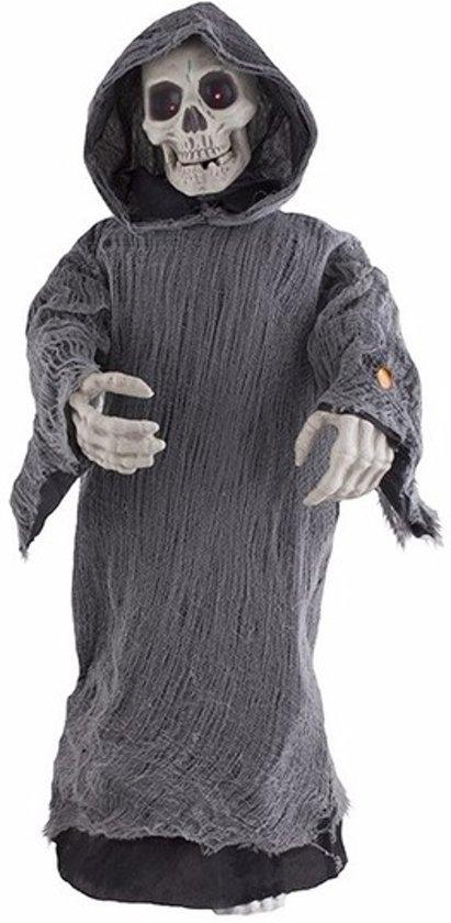 Geluiden Halloween.Halloween Skelet Pop Licht En Geluid 95cm Horror Decoratie