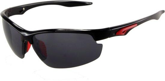 03f0cd18deae2a Zonnebril Sportief - UV 400 bescherming Cat. 3 - Glazen 65 mm - Zwart en