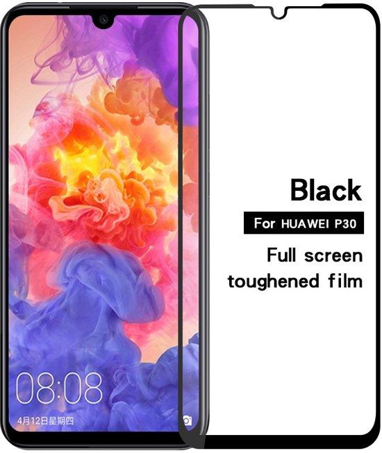 Huawei P30 - Full-Cover Tempered Glass - Zwart