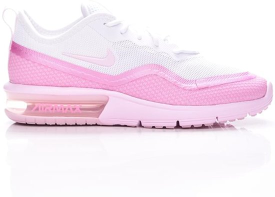 Nike Air Max Sequent 4.5 Wit Roze Sneakers