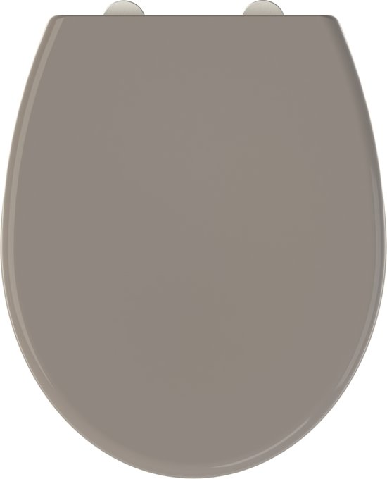 Allibert wc-bril FALLY - thermodure - soft close - afklikbaar -antibacterieel - taupe
