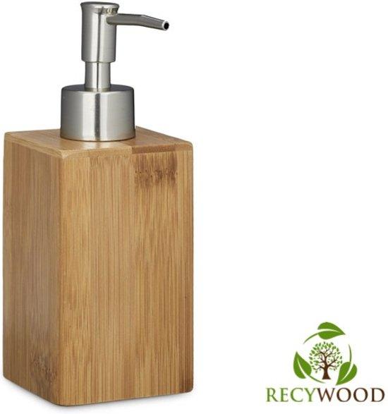 Bamboe Zeepdispenser - Handzeep Dispenser - Houten Zeeppompje -  Zeep Doseerpomp (240ml)