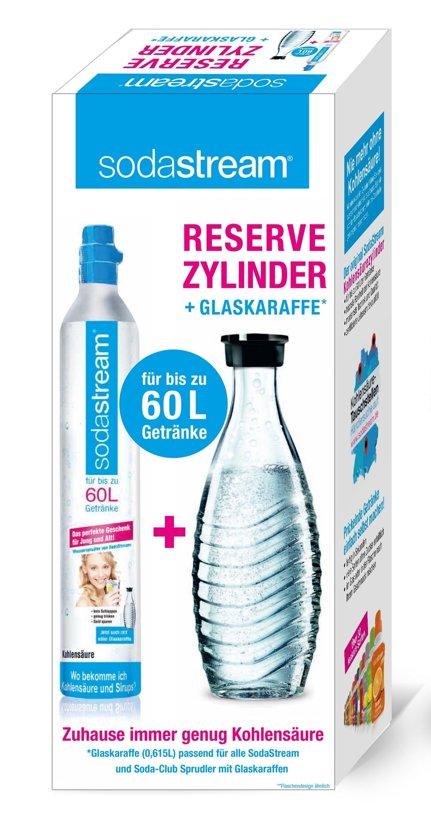 SodaStream Gascilinder en Glazen Drinkfles - 60 l + 0,6 l