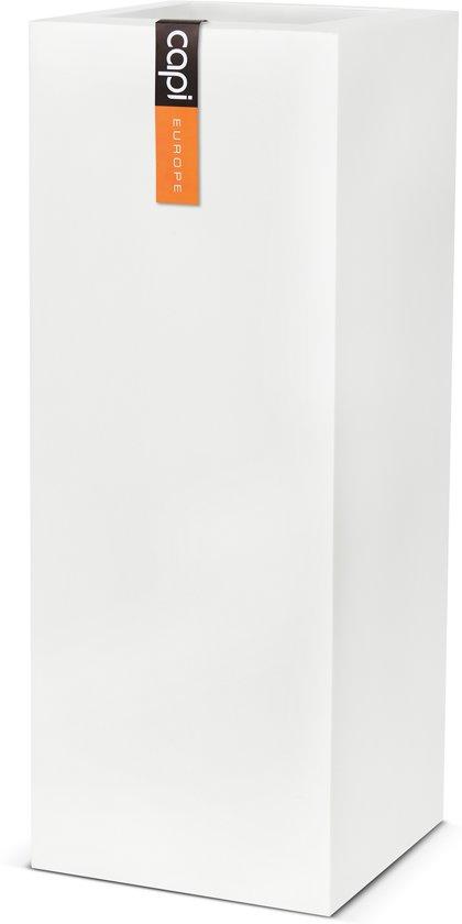 Capi Lux - Pot rechthoekig 25x25x67 - Wit