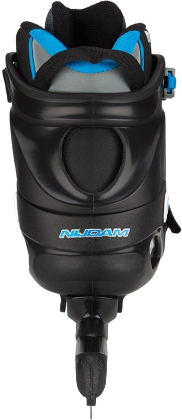 Nijdam Pro-line Norenschaats - Semi-Softboot - Zwart/Zilvergrijs/Blauw - 42