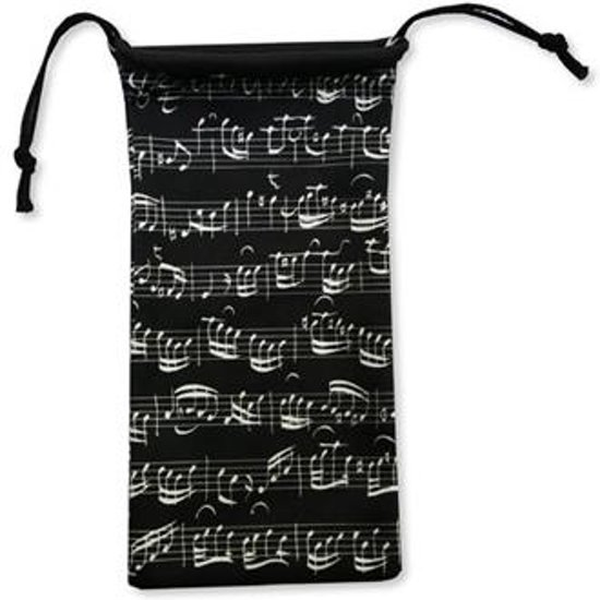 Glasses case Sheet music black