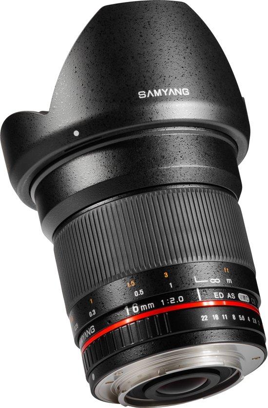 Samyang 16mm F2.0 ED AS UMC CS - Prime lens - geschikt voor Nikon Spiegelreflex