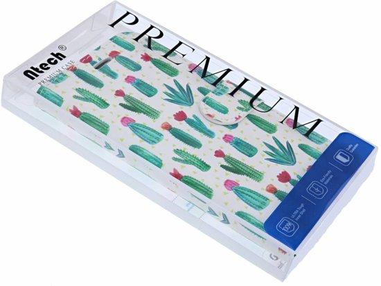 Huawei Y6 (2018) 3D Cactus Design Book Hoesje Met Pasjesruimte & Magneet flapje
