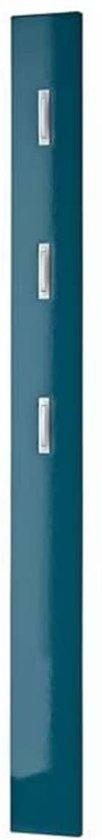 Germania Colorado Kapstokpaneel HG - Wandkapstok - 15x4cm - Hout/Metaal - Glanzend Petrol Blauw
