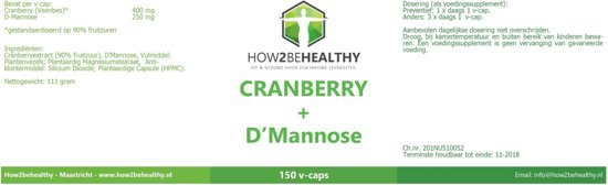 Elvitaal Cranberry+ D-Mannose 150 cap